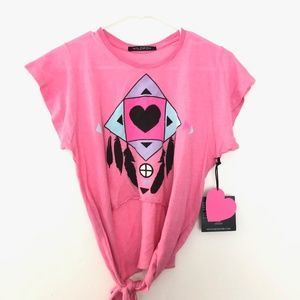 NEW Wildfox Couture Large Dreamcatcher Shirt Pink
